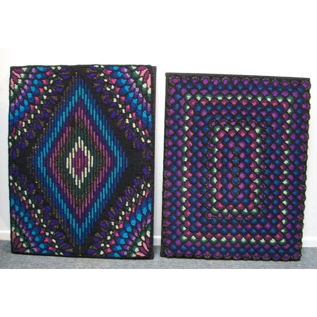 20th Century P.A. Mennonite Geometric Mounted Rug - Image 2 of 6