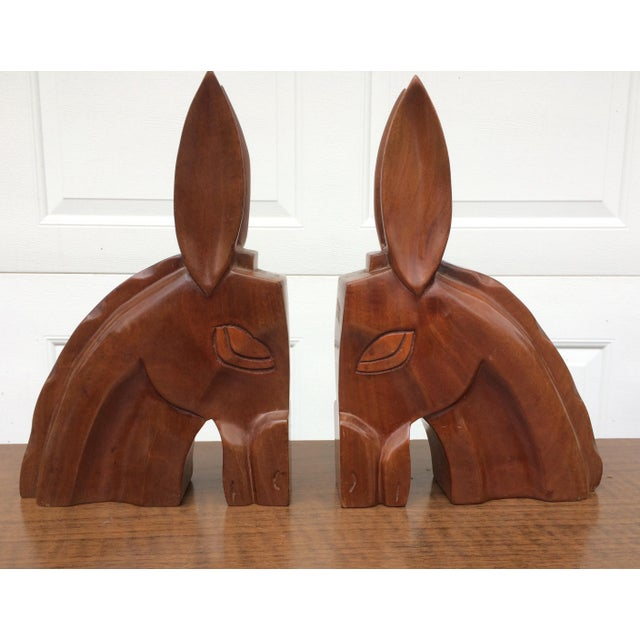 Art Deco Horse Head Bookends - A Pair - Image 2 of 6