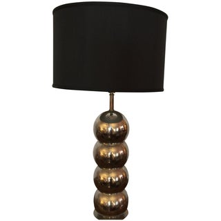 George Kovac Chrome Stacked Ball Lamp Rewired