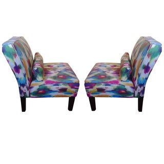 Multi-Colored Accent Chairs - A Pair