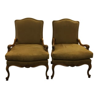Kreiss Novosuede Lounge Chairs - A Pair