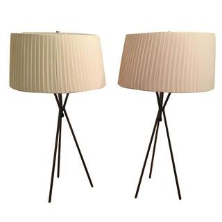 Ethan Allen Tripod Lamps - a Pair