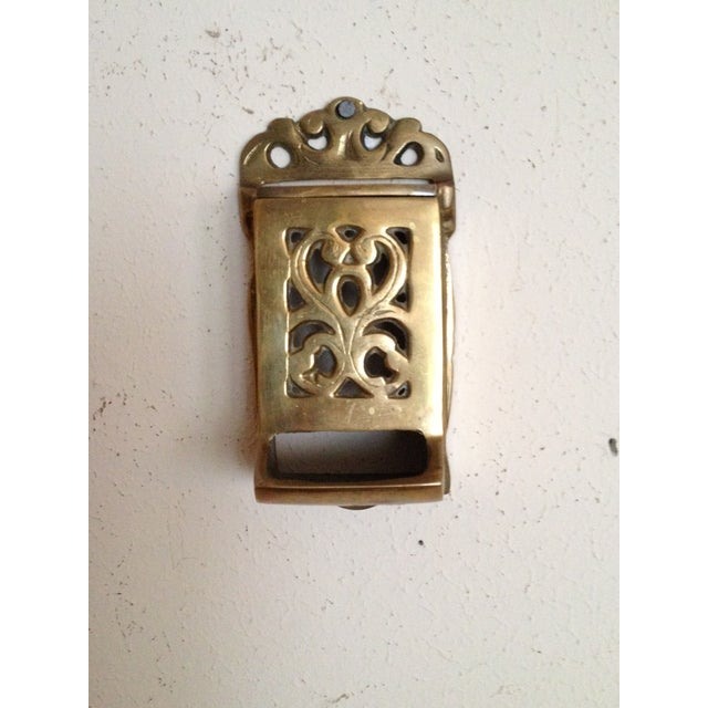 Vintage Brass Match Holder - Image 2 of 4