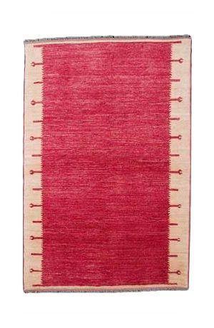 Hand Woven Cochineel Dyed Carpet