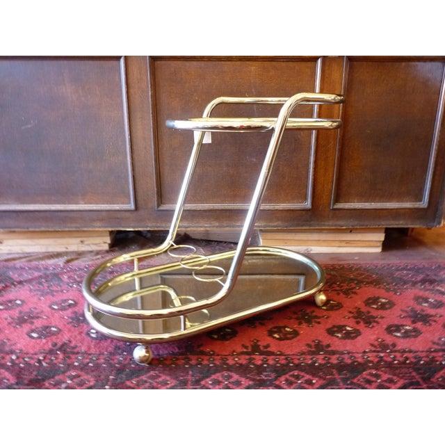 Vintage Baughman Style Bar Cart - Image 2 of 11