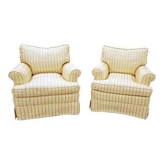 Silk Club Chairs - A Pair