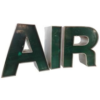 """Vintage Aluminum & Plastic Letters - """"AIR"""""""