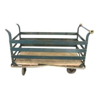 Industrial Metal Cart on Wheels