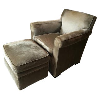 Downing Swivel Lounge Chair & Ottoman