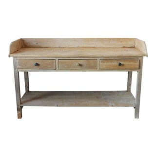 Antique French Pine Bakery Work Table