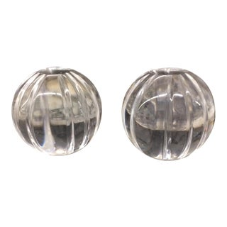 Crystal Paperweights - a Pair