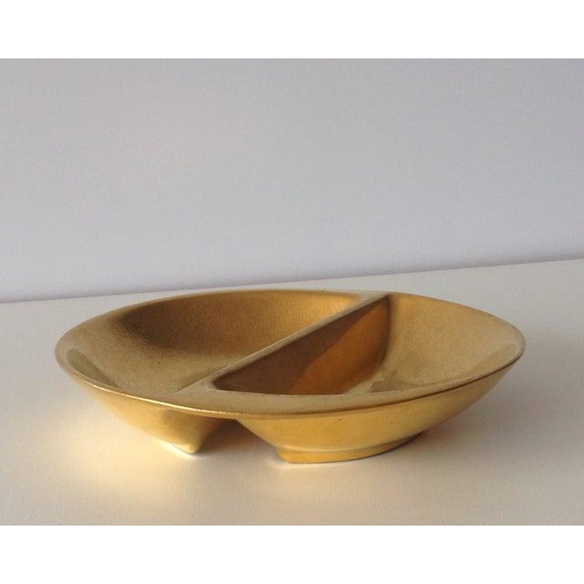 Pickard 24k Gold Divided Floral Motif Dish - Image 2 of 11