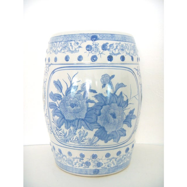 Blue White Chinese Ceramic Garden Stool Chairish