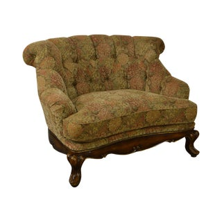 Schnadig Compositions French Louis XV Style Tufted Wide Seat Bergere