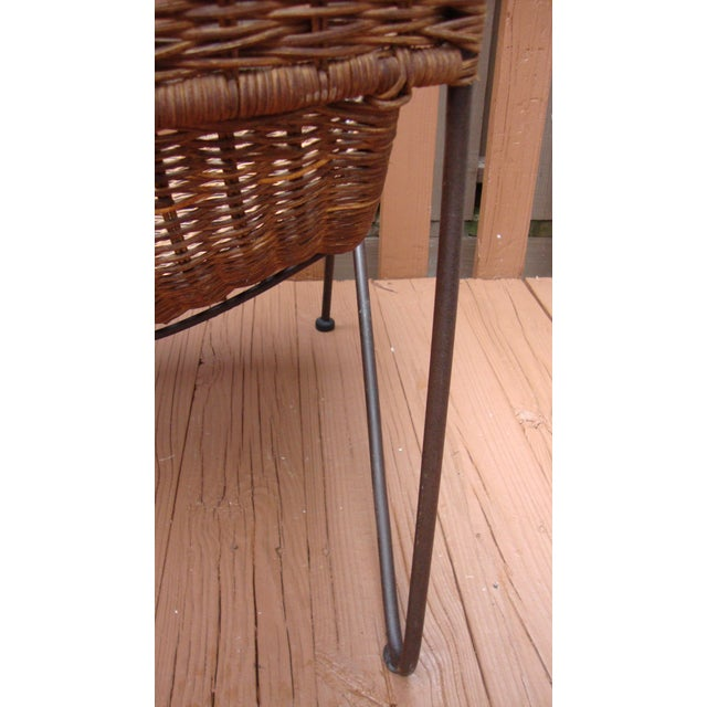 MCM Modern Wicker Iron Frederick Weinberg Chair - Image 9 of 10