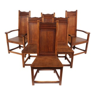 1920s Elizabethan Style Dining Chairs - Set of 6
