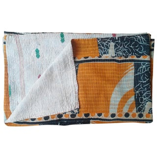 Tangerine & Black Vintage Throw