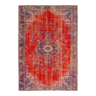 """MELIS Vintage Turkish Rug, 6'10"""" x 9'11"""" feet"""