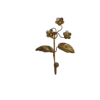 Vintage Gilded Italian Floral Coat Hook