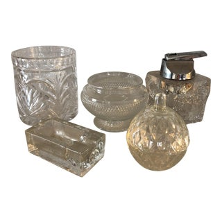 Collection of Blenko Glass and Crystal Vases, Ashtray & Lighter - Set of 4