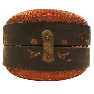 Asian Anitque Hat Basket