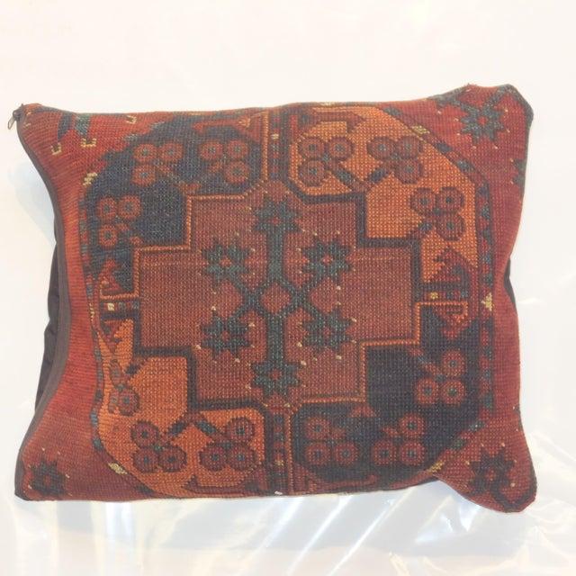 Antique Afghan Rug Fragment Pillow