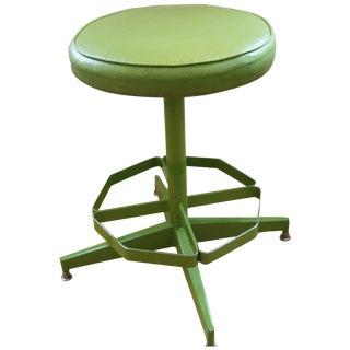1960s Mid-Century Modern Green Stool