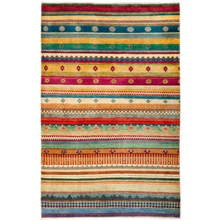 "Lori, Hand Knotted Area Rug - 4'2"" X 6'3"""