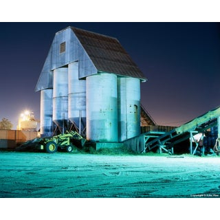 Silos - Night Photograph by John Vias