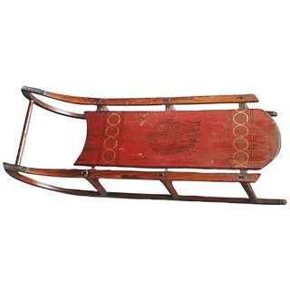 Antique Paris Manufacturing Co. Red Painted Sled