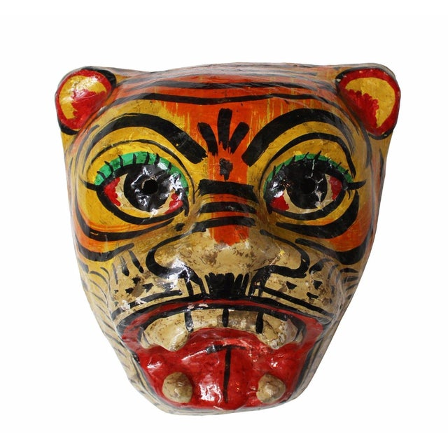 Image of Paper Mache Tiger Mask