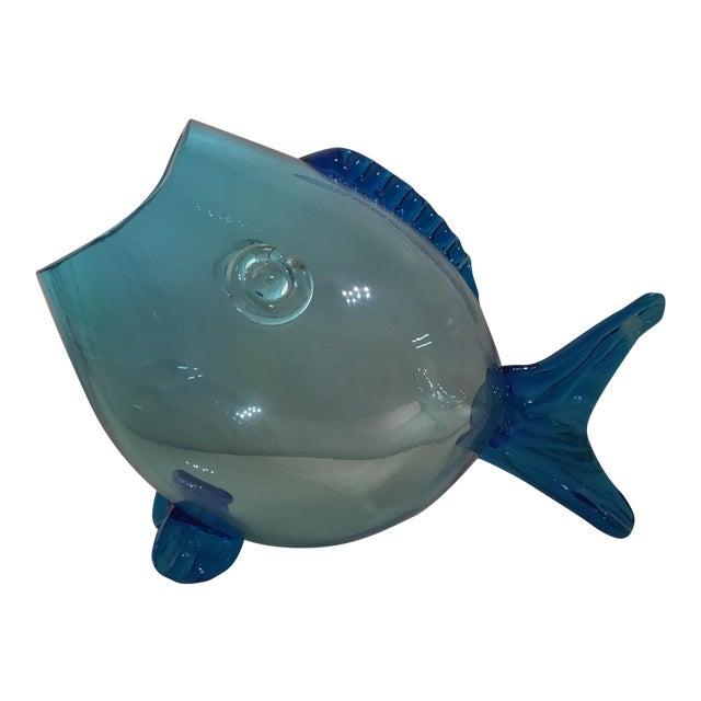 Huge Mid Century Turquoise Blenko Fish - Image 1 of 6