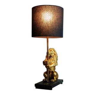 Brass Lion Lamp