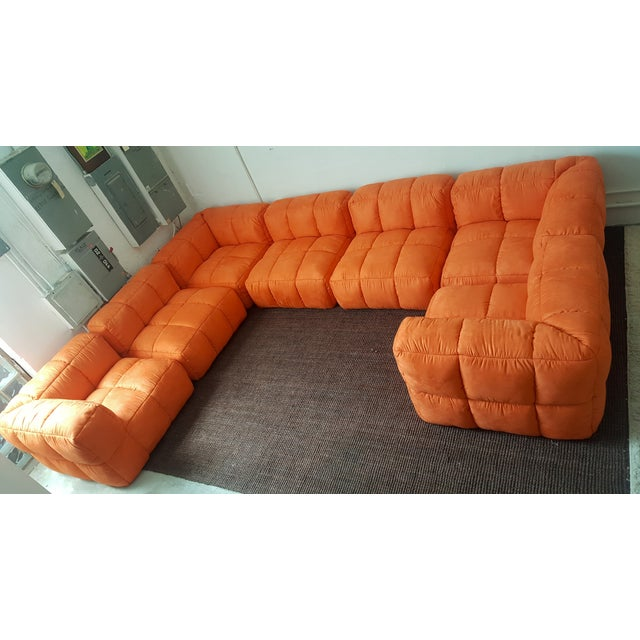 Image of 1970s Monumental Tufted Modular Sofa