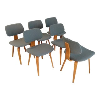 Gray Thonet Bentwood Chairs - Set of 6