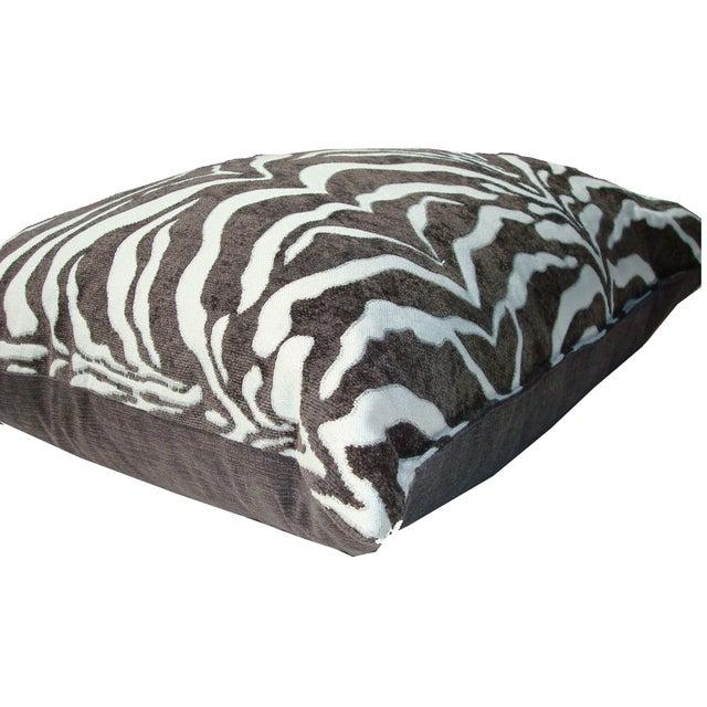 Large Animal Pillow : Large Chenille Plump Down Animal Print Pillow Chairish