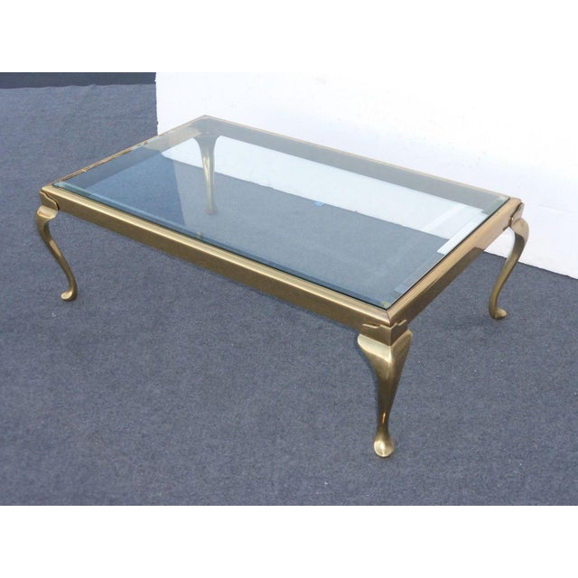Vintage Oblong Brass Coffee Table By The Brass Collection By Melvin Wolf Chicago Chairish