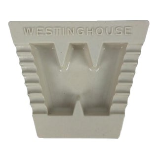 Westinghouse White Porcelain Ashtray