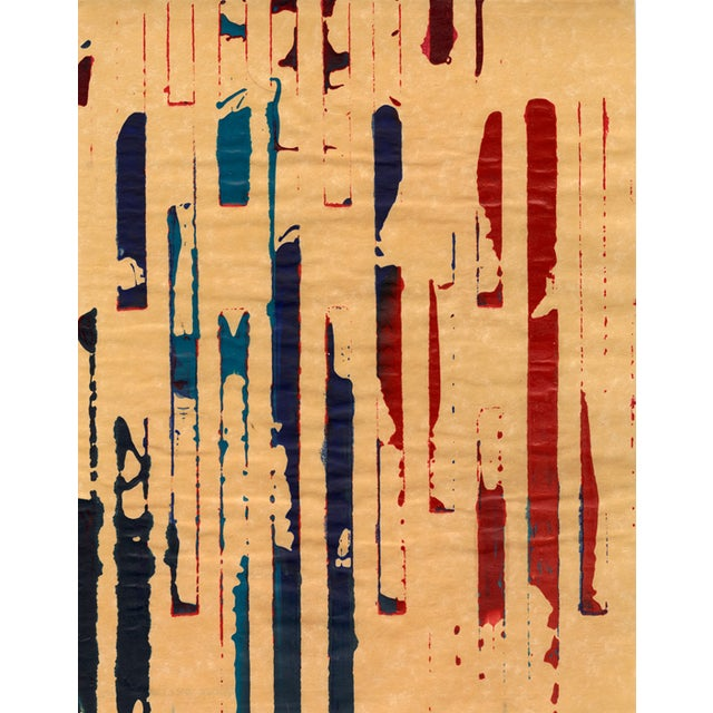 Image of Mixed Media Collage - Red Meets Blue No. 12