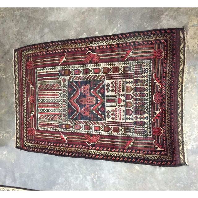 "Turkaman Persian Rug, 2'5"" x 4'1"" - Image 2 of 8"