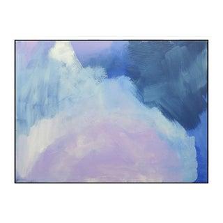 """Abstract Lavender Bloom"" Framed Fine Art Giclée Print"