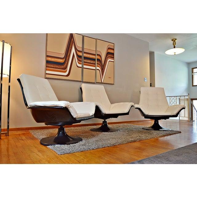 Decorian Swivel Tulip Base Chairs - Set of 3 - Image 11 of 11
