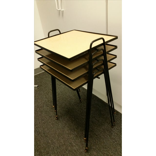 Image of Mid-Century Stacking TV Tables - Set of 3