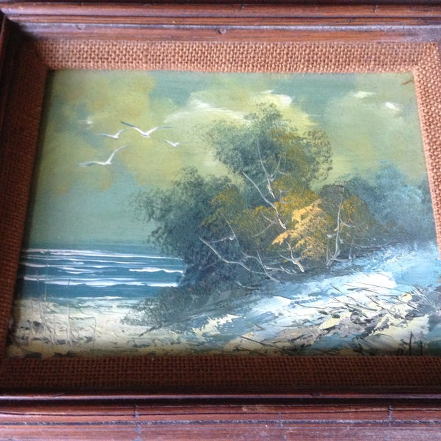 Vintage Oil on Board Seascape Painting - Image 4 of 11