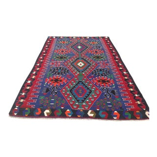Vintage Turkish Kilim Rug - 6′2″ × 9′9″