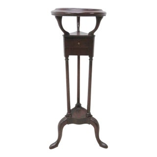 Queen Anne Mahogany Pedistal Plant Stand