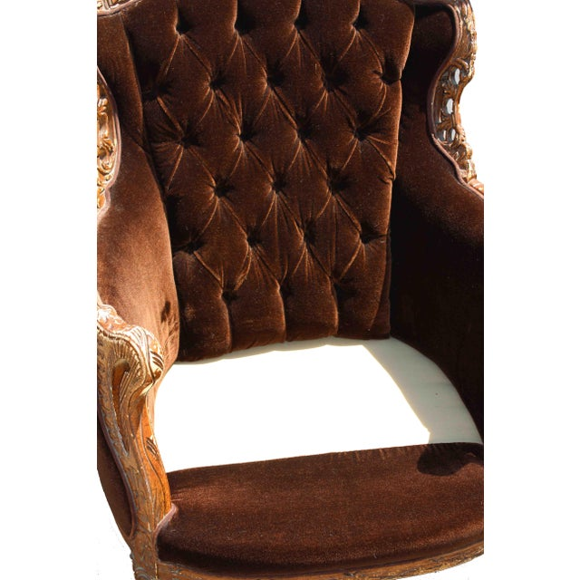 Vintage Mohair Velvet Chair - Image 2 of 10