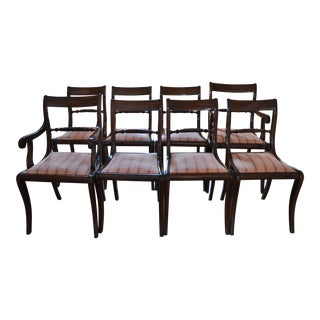 Regency Style Mahogany Dining Chairs - Set of 8