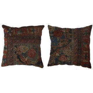 Rugsindallas Antique Persian Rug Covered Pillows - a Pair