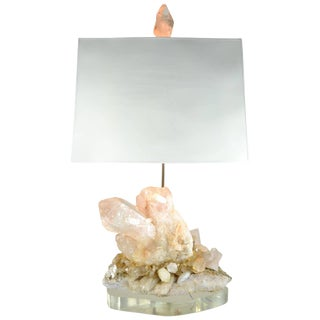 Large Quartz Crystal Cluster Lamp